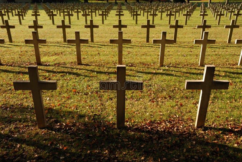 cmentarz przez żołnierzy francuskich zdjęcie stock