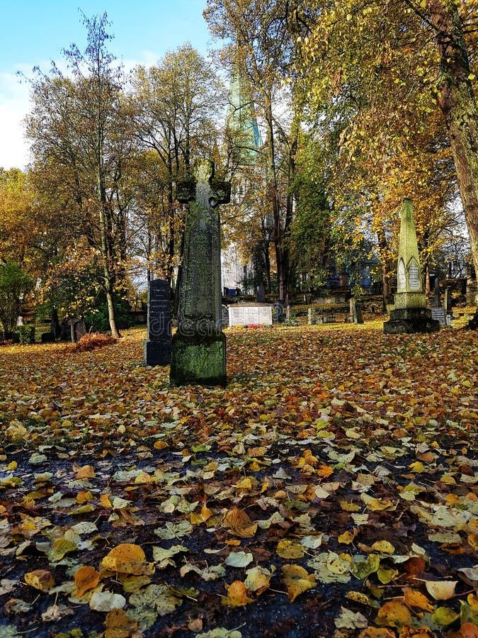 Cmentarz przy Nidaros domena w Trondheim zdjęcia royalty free