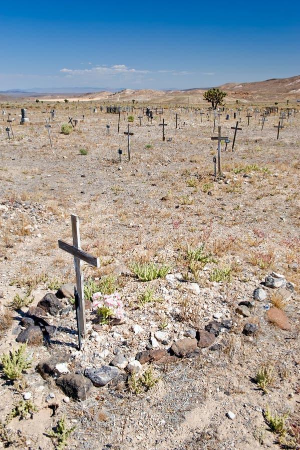 cmentarz pustynny Nevada obraz stock