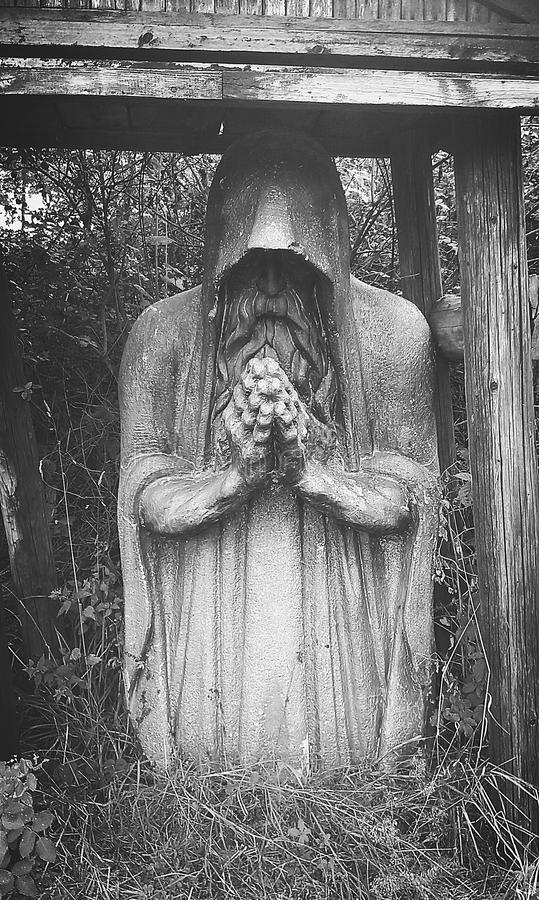 Cmentarz statua obraz stock