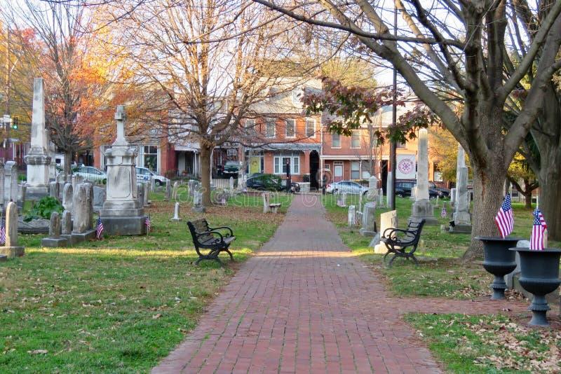 Cmentarz w Lancaster, PA obrazy royalty free