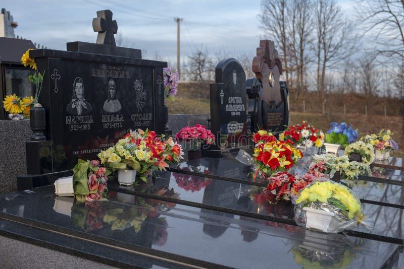 Cmentarz w malutkiej wiosce obraz royalty free