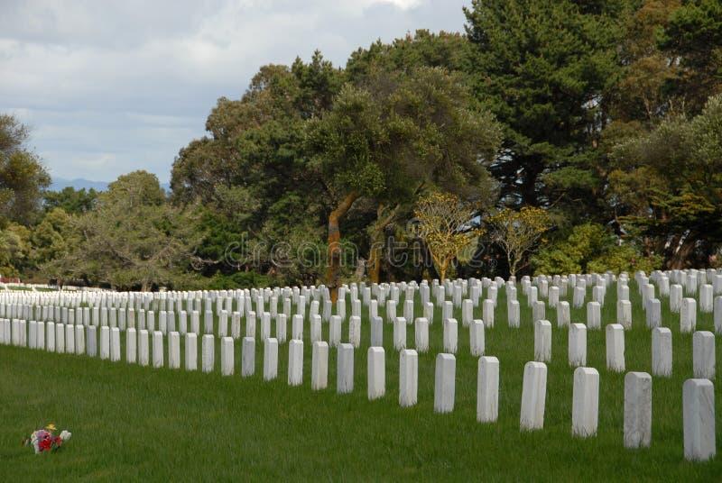 cmentarz wojskowy obraz stock