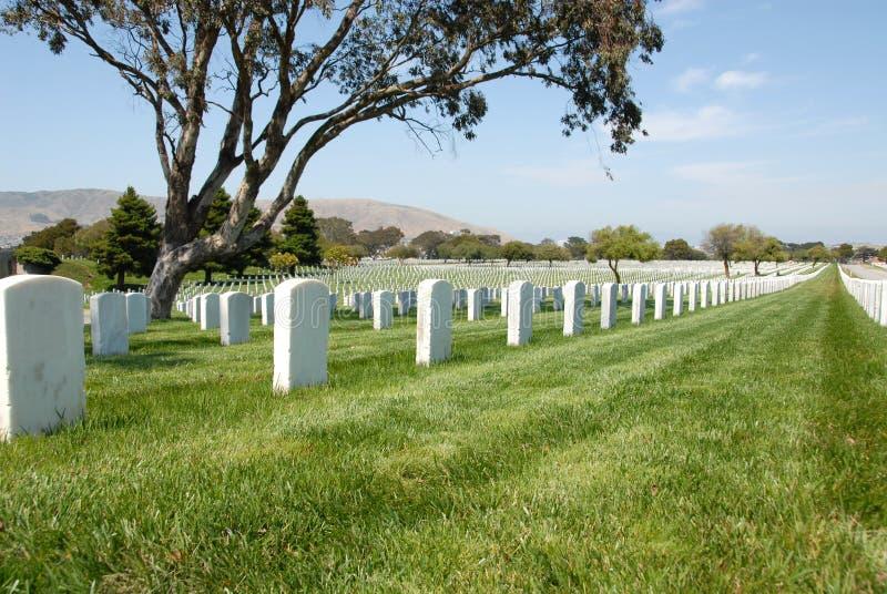 cmentarz wojskowy fotografia stock