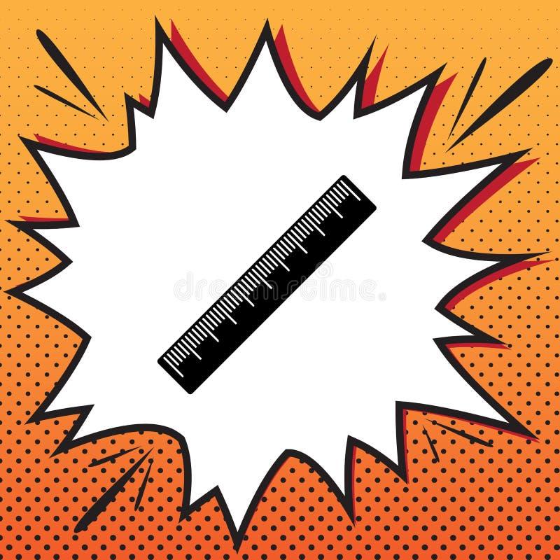 Cmlinjaltecken vektor Komikerstilsymbol på pop-konst baksida arkivfoto