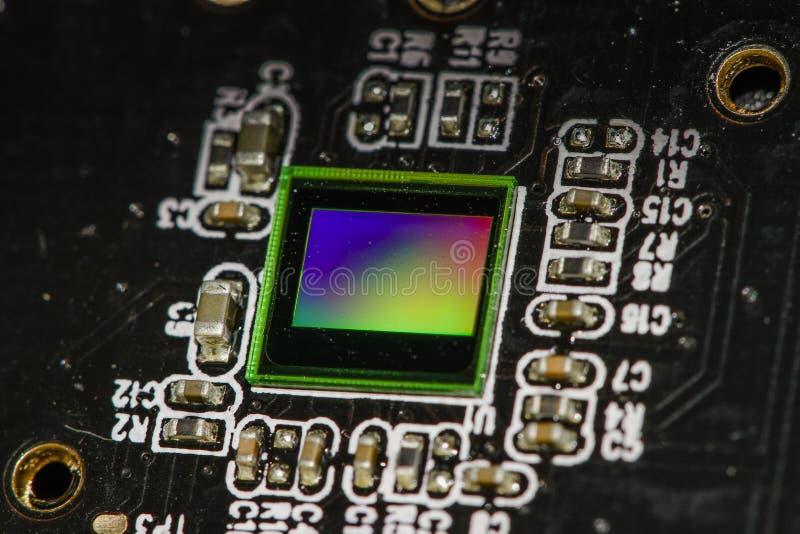 CMOS sensor op een kringsraad stock foto