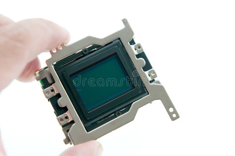CMOS van de holding sensor stock fotografie