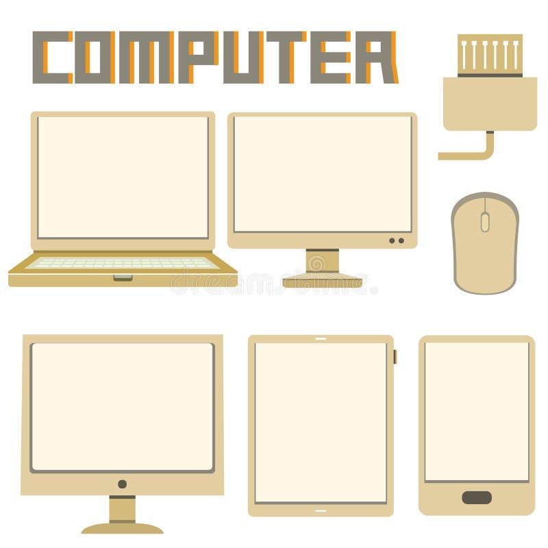 Cmputer ikony ilustracji
