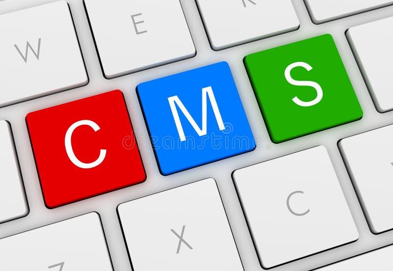 Cms键盘概念3d例证 向量例证