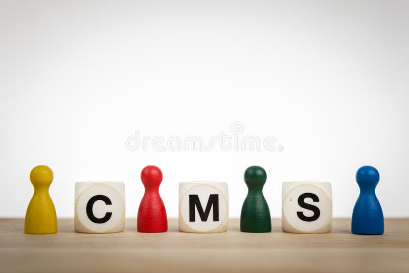 CMS - A content management system royalty free stock photography