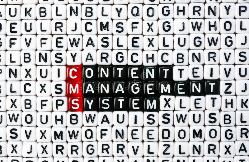 CMS ,Content Management System stock photo