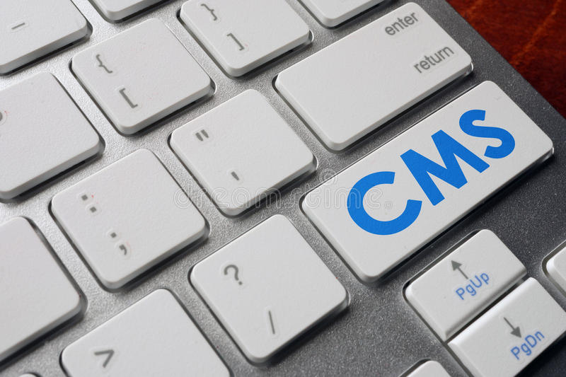 CMS Content Management System. stock image
