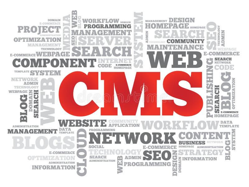CMS Content Management System vector illustration