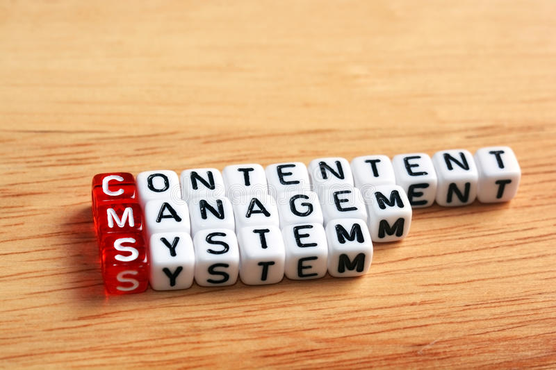 CMS Content Management System royalty free stock images