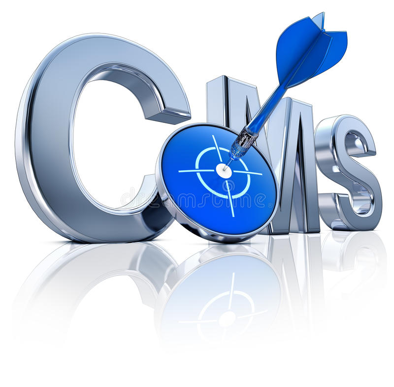 CMS-pictogram Stock Fotografie