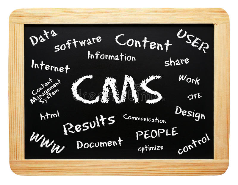Download CMS Words on Chalkboard stock photo. Image of management - 18548186