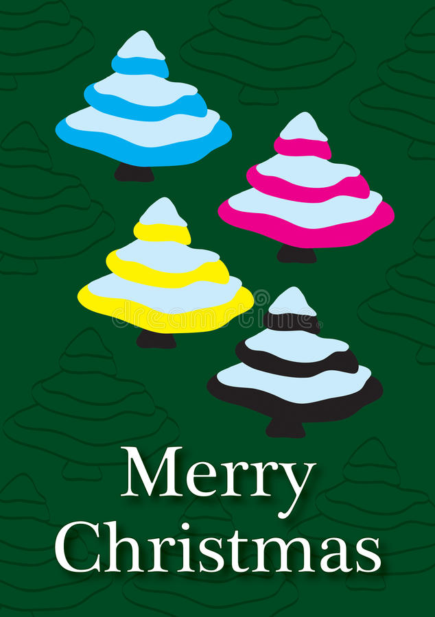 CMYK圣诞卡 免版税库存图片