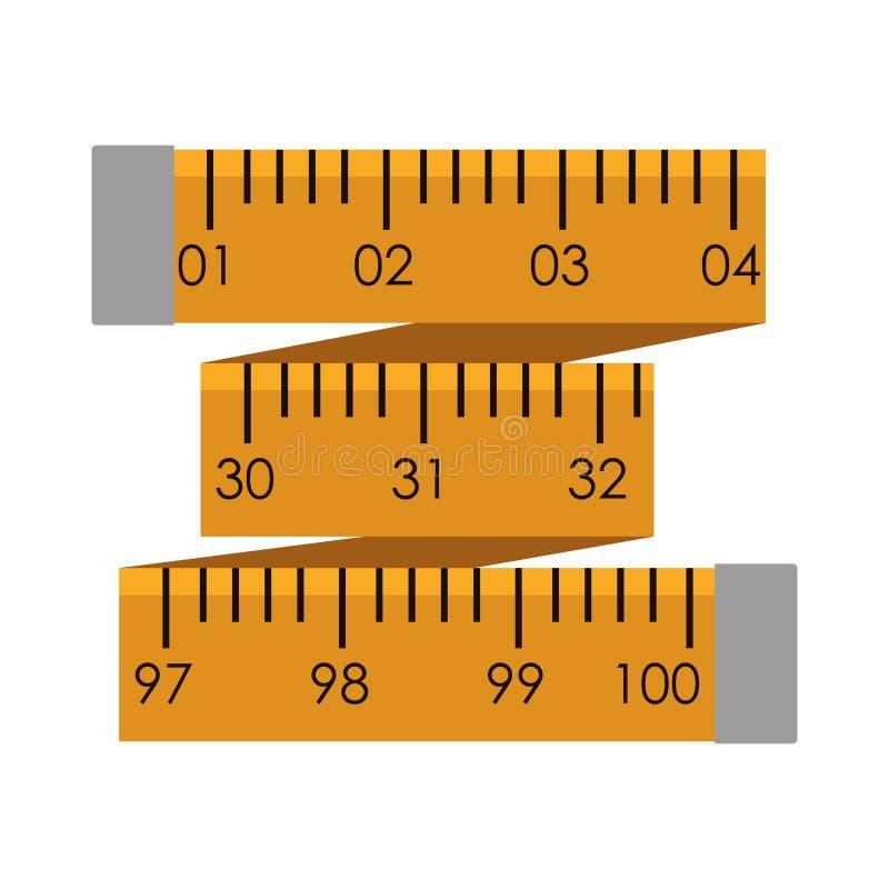 cmyk颜色文件英寸评定磁带向量黄色 库存例证