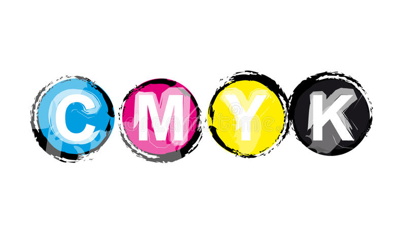 cmyk μοντέλο χρώματος απεικόνιση αποθεμάτων