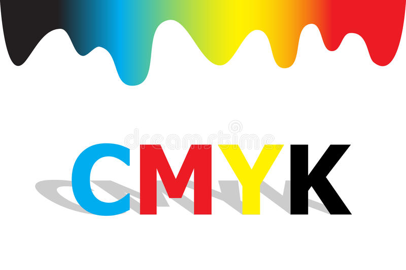 cmyk royaltyfri illustrationer