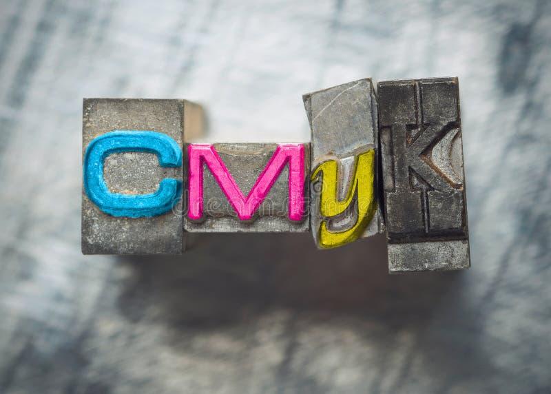 CMYK fotografia stock