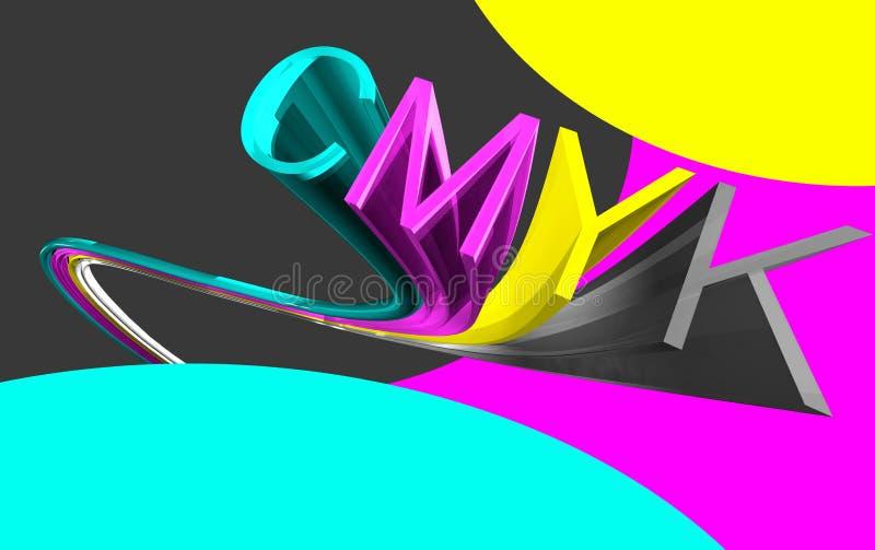 Download Cmyk 3d word stock illustration. Image of printer, text - 6415476