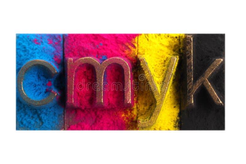 CMYK imagen de archivo libre de regalías