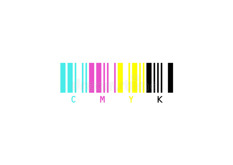 cmyk illustration stock