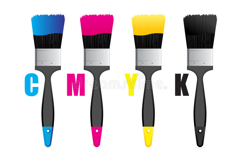 Cmyk royalty free illustration