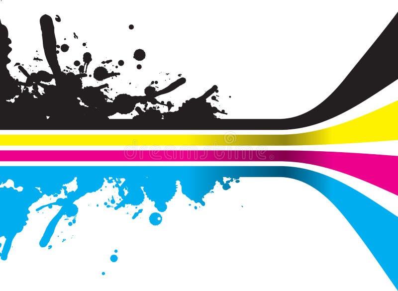 Download Cmyk background stock vector. Image of splodge, print - 10906231