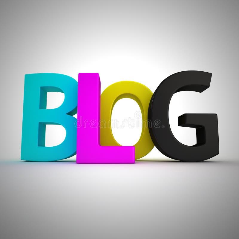 CMYK Blog vektor abbildung