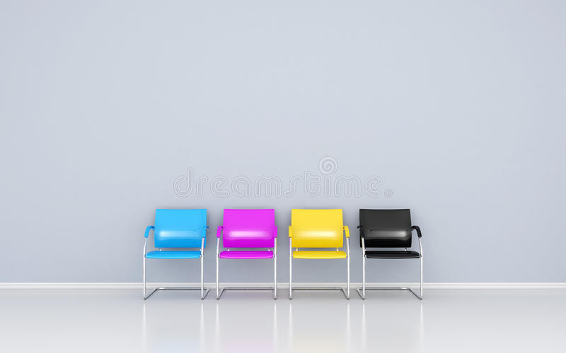 Download CMYK chairs stock illustration. Image of modern, print - 25781119