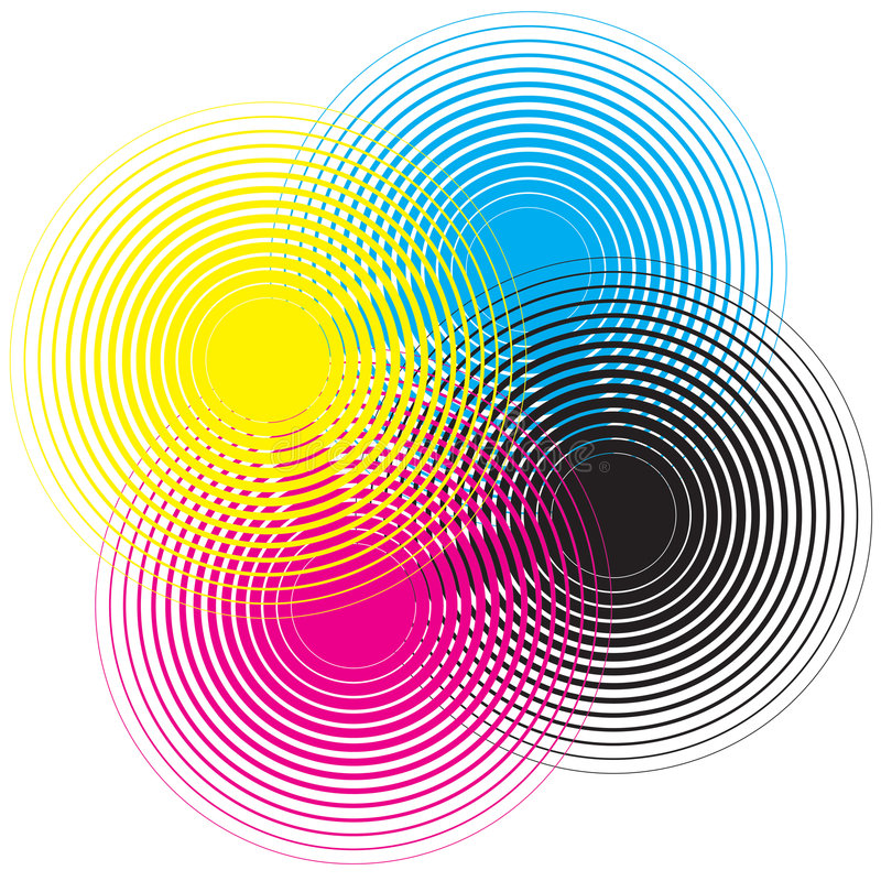 Cmyk circle. Texture on a white background
