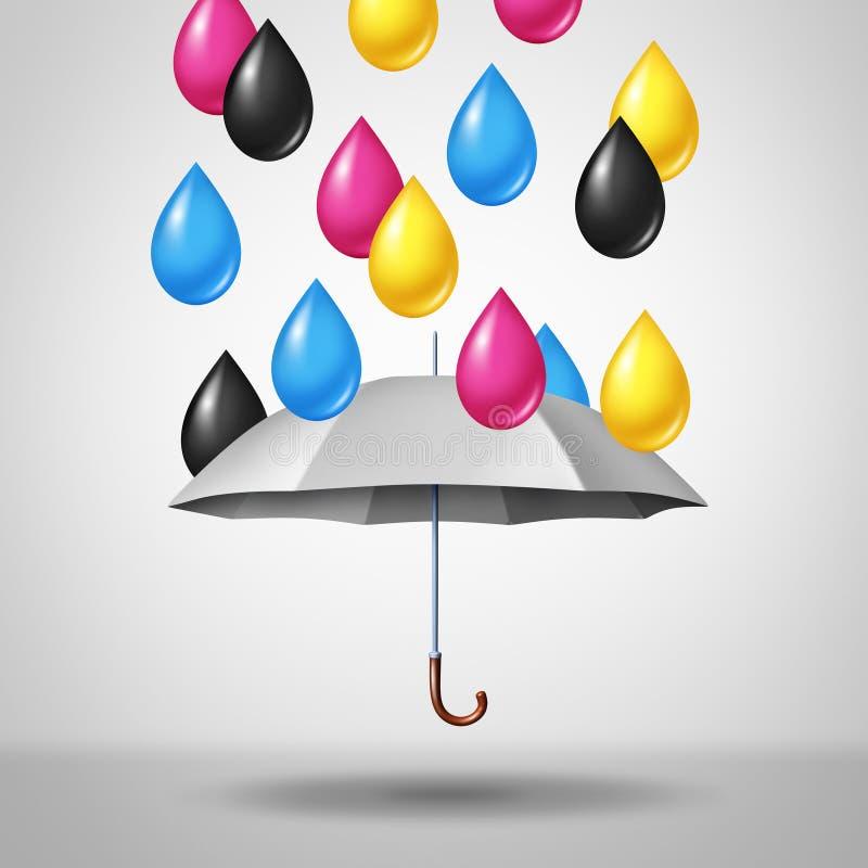 CMYK Color Concept stock illustration