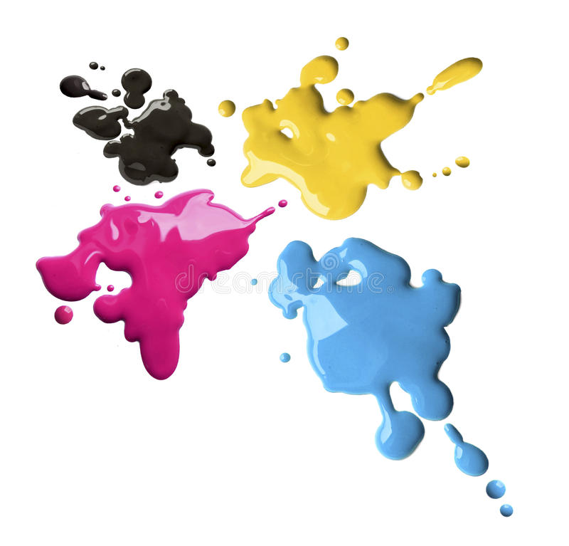 Download Cmyk color splashes stock image. Image of leak, liquid - 14739335