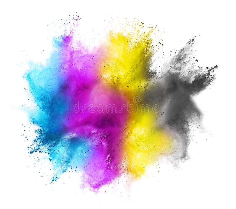 CMYK colored cloud royalty free illustration