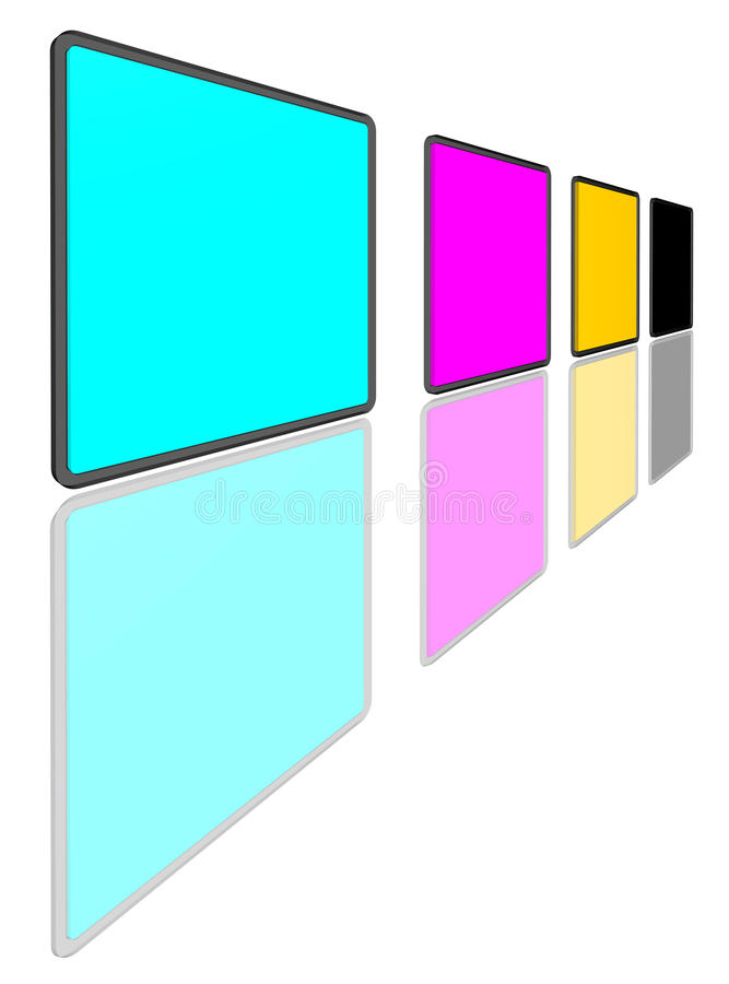 Download CMYK Colors stock illustration. Image of colours, spectrum - 16189457