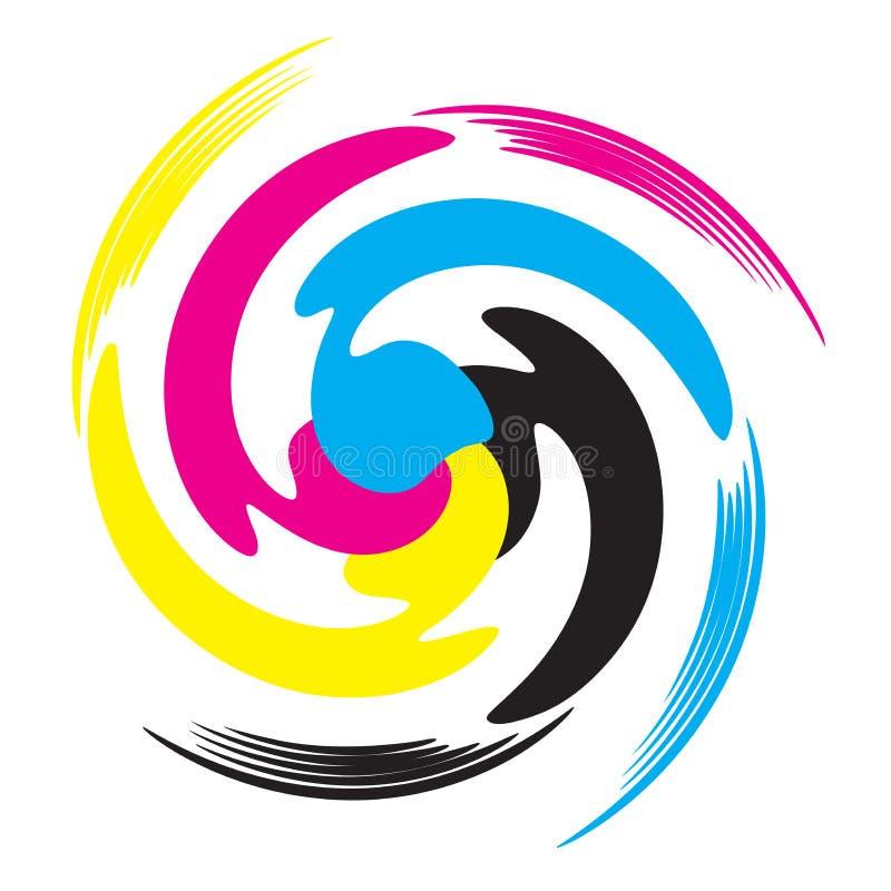 Cmyk colors. Illustration of cmyk design isolated on white background vector illustration