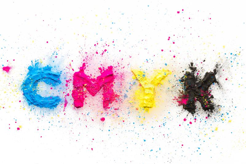 CMYK colour toner for printer cyan magenta yellow royalty free stock photography