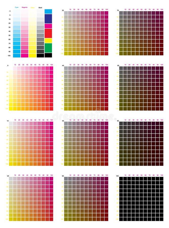 CMYK-de Grafiek van de Perskleur stock illustratie