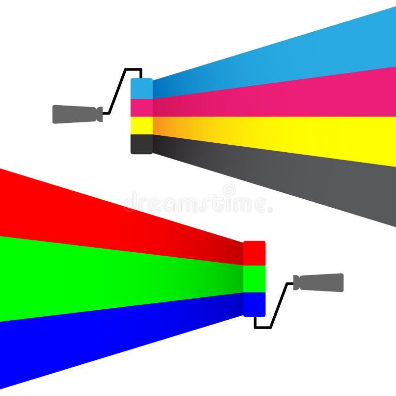 Cmyk del Rgb stock de ilustración