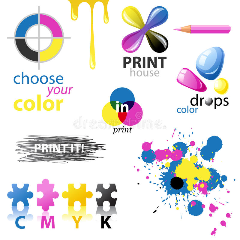 Download CMYK design elements stock vector. Image of printing - 31894592
