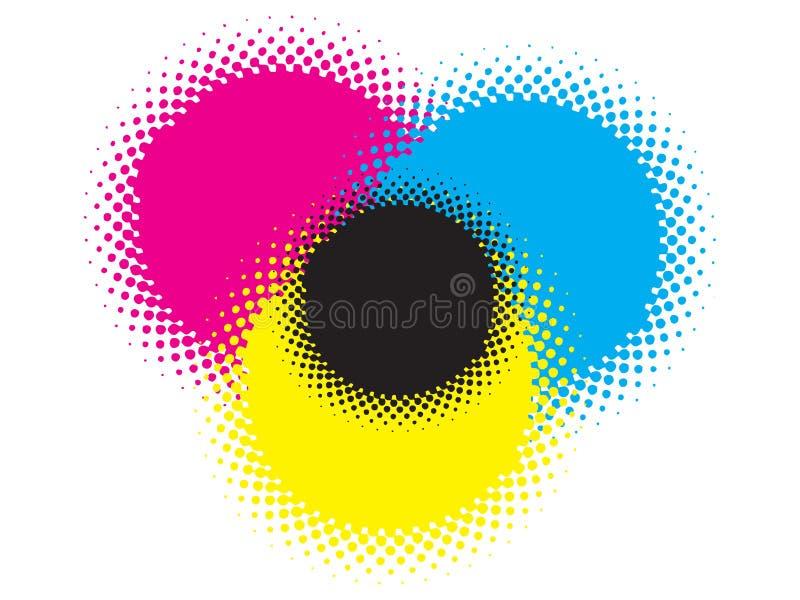Cmyk dots stock illustration