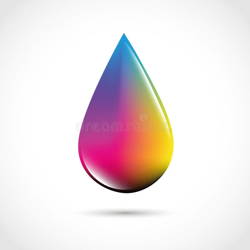 CMYK drop primary colors print stock illustration
