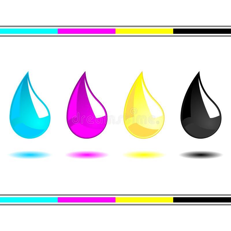 Download CMYK drops stock vector. Image of plastic, droplet, background - 25620383