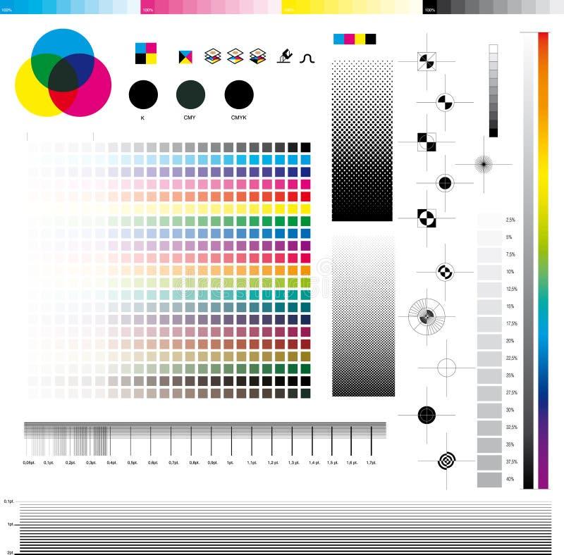cmyk druku użyteczności ilustracji