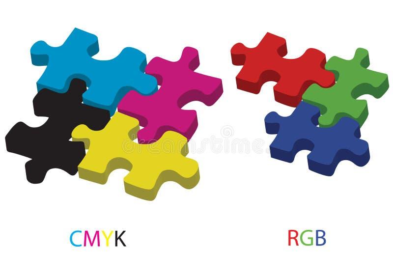 Cmyk et RVB - vecteur illustration de vecteur