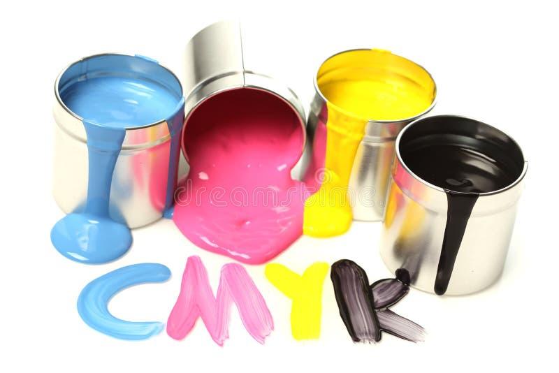 cmyk farba obrazy stock