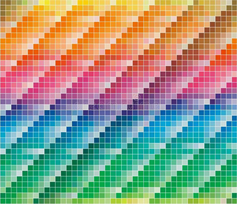 CMYK Farbenpalette für abstrakten Hintergrund lizenzfreie abbildung