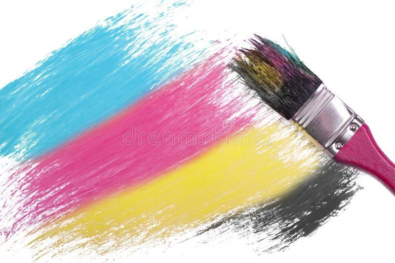 Cmyk-Farbmalerei lizenzfreie stockfotos